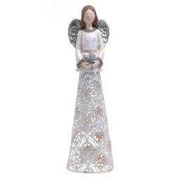 Anioł świecznik 32 cm