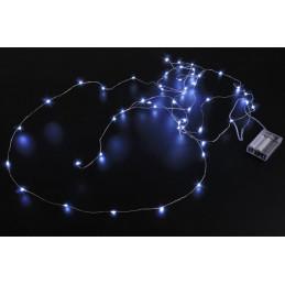 Lampki 50 LED 5 m , światło zimne lub ciepłe,  zasilane 3AA