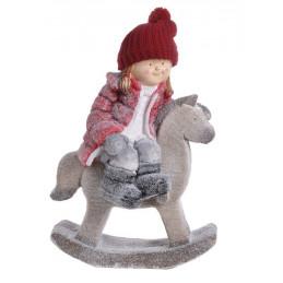 Dziewczynka na koniku..39x23x55 cm - ceramika
