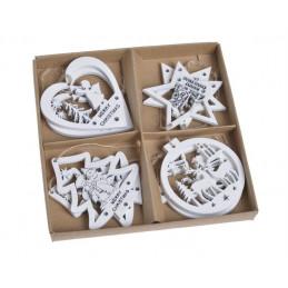 Zawieszki świąteczne 8 szt/kpl..5,5-6 cm