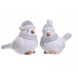Zimowy ptak 9 cm - ceramika