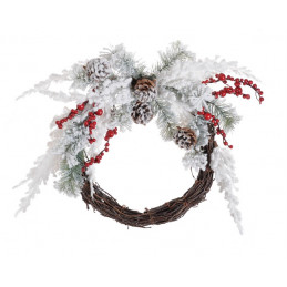 Wieniec 40 cm - zimowa dekoracja