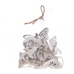 Motyle wykrawane biało-szare mix 5-7 cm