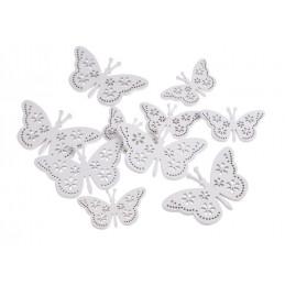 Motyl wykrawany ażurowy 10szt-paczka 7-10 cm