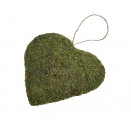 Serce 21x21 cm - wyrób z mchu