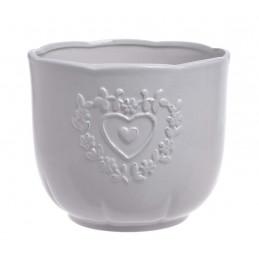 Osłonka 2 serca 17x14cm - wyrób ceramiczny
