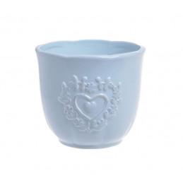 Osłonka 2 serca 12x10cm - wyrób ceramiczny