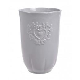 Wazon 2 serca 12x17cm - wyrób ceramiczny