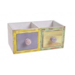 Skrzynka podwójna szufladki..22,5x14x10 cm
