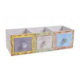 Skrzynka potrójna szufladki..33x14x10 cm.
