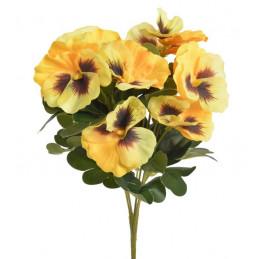 Bukiet bratków x7..32cm - sztuczna roślina