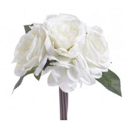 Bukiet róża z hortensją 28cm - sztuczna roślina