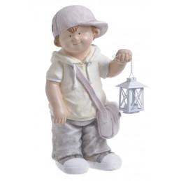 Chłopiec z latarnią 50cmH - wyrób ceramiczny