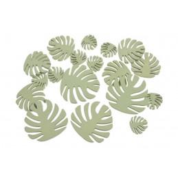 Liście zielone monstera mix, 18szt..7cm, 5cm, 3cm