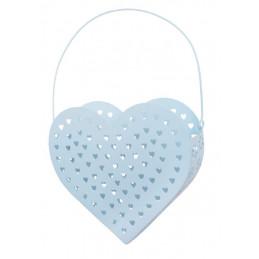 Metalowe serce koszyczek..22 cm