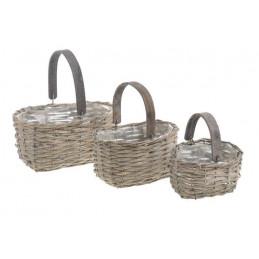 Plecione koszyki 3szt..18x14x11, 23x16x13cm, 30x20x14 cm