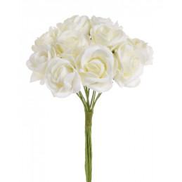 Bukiet róż piankowych x10, 24 cm