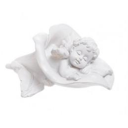 Aniołek śpiący w kwiatku..6 cm