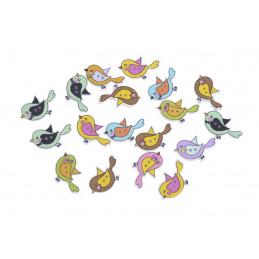Nalepki kolorowe ptaszki 18 szt/paczka..3 cm