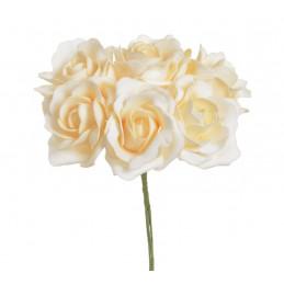 Róża piankowa x6..25 cm