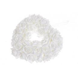 Serce z róż piankowych..27 cm -zawieszka