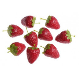 Truskawki 4 cm paczka/25 sztuk  -sztuczny owoc