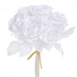 Róża duża x 6 25 cm - MIX KOLORÓW