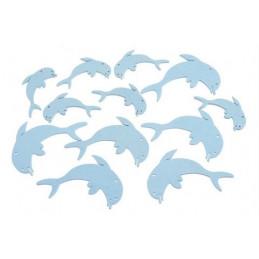 Wykrawanki delfinki 12szt-pacz..5cm, 7cm