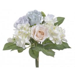 Bukiecik mieszany z różą 7...