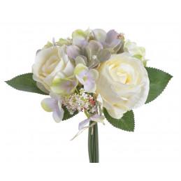 Bukiet z różami i hortensją...