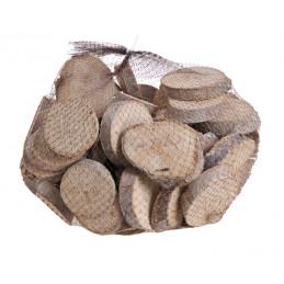 Wood slices 1kg WW 5-8 cm -...