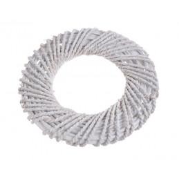 Wianek biały 30cm