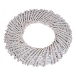 Wianek biały 40cm