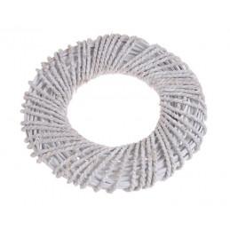 Wianek biały 35cm