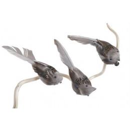 Ptak na klipie 6szt/pacz 12 cm