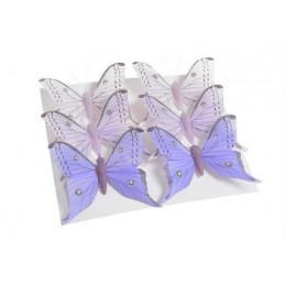 Motyl 8cm na klipie 6szt/kpl