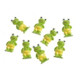 Naklejki żaby 8szt/kpl..3 cm