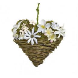 Serce z kwiatkami 18cm