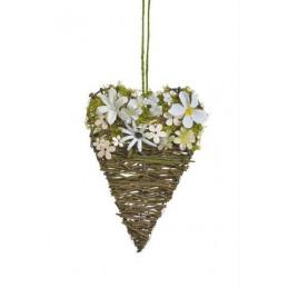 Serce z kwiatkami 25cm