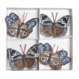 Motylki na klipie 8szt..7cm