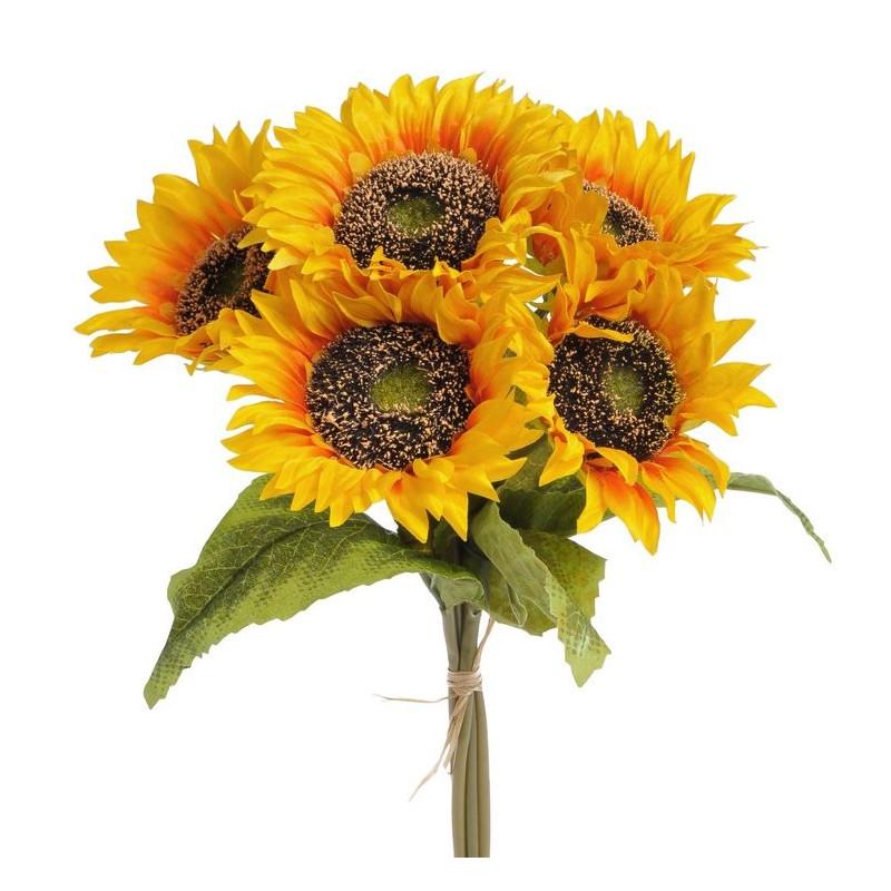 Słonecznik w bukiecie x5 35 cm
