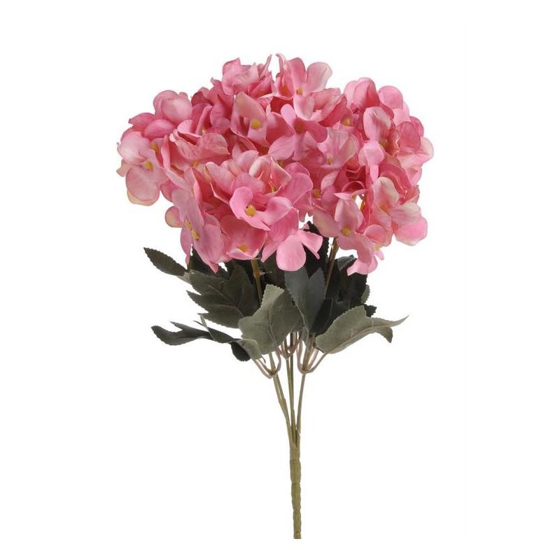 Mini bukiet hortensji x6, 32cm - sztuczna roślina