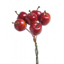 Jabłuszka mini na druciku paczka/18peczków 2-9 cm