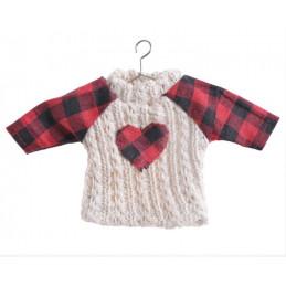 Sweterek zawieszka 18x10 cm  -  CREAM