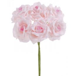Bukiet róż piankowych x 6 25 cm MIX KOLORÓW