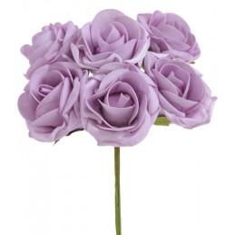 Bukiet róż piankowych x 6 25cm MIX KOLORÓW