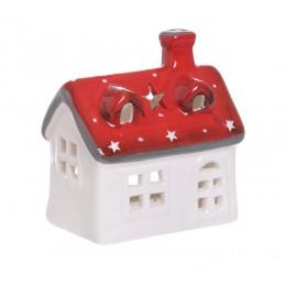 Domek ceramiczny szkliwiony - lampion 9,5 cm