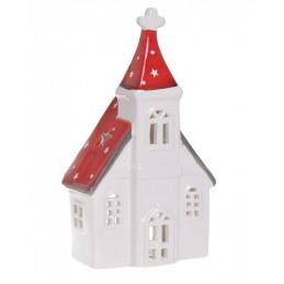 Kościół  szkliwiony - lampion 10,5 cm