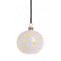 Kula ceramiczna - lampka led 9 cm