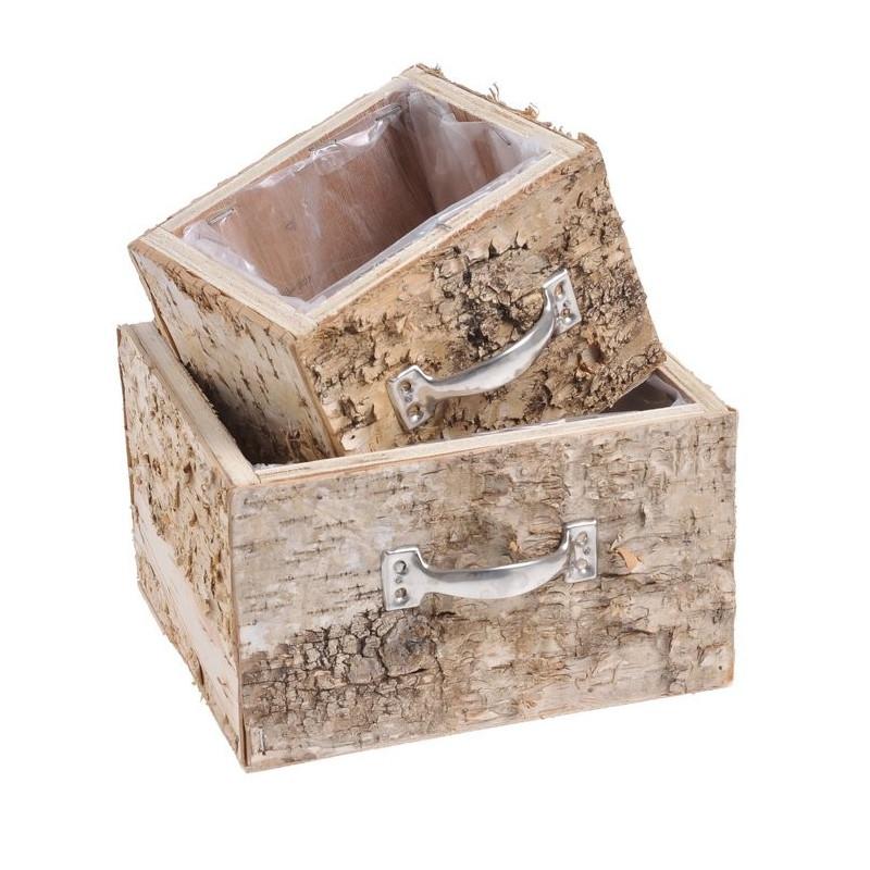 Szufladki z brzozy zestaw - drewno